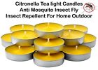 Citronella Tealight Candles Anti Mosquito Insect Fly Insect Repellent Out Door
