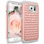 Crystal Bling Shock Hybrid Case Cover For Samsung Galaxy S6/S7/S8 Edge Plus US