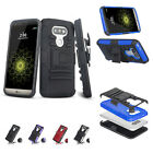 Heavy Hybrid Impact Rugged Rubber Shockproof Hard Armor Case Cover for LG G5