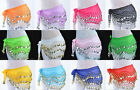 Chiffon Belly Dance Hip Scarf Wrap Belt Tribal Coin Sash Skirt