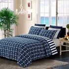 New Home Bedroom Anchors Away Design  Reversible fashion Luxury Quilt Set