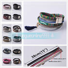 Fashion Women Multilayer Bangle Leather Wrap Wristband Magnetic Buckle Bracelet