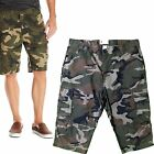 Mens Camo Army Casual Work Cargo Combat Camouflage Shorts Cotton Chino Half Pant