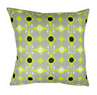 Norsk Geometrical pattern Filled Cushion, Linen mix 43cm