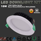 NEW 6X18W LED DIMMABLE DOWNLIGHT KITS 120MM CUTOUT WARM/COOL WHITE IP44 LIGHT