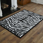 NEW MEDIUM ALPHA BLACK WHITE ZEBRA RUGS 80x150 CM MODERN DISCOUNT AREA RUGS MATS