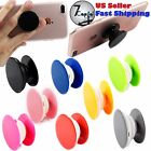 Pop Up Cellphone Grip Expanding Stand Holder Case Mount Socket and Car Clips