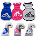 Adidog Fashion Summer Relax Vest Cat Dog Clothes Puppy Apparel Coat T-shirt US