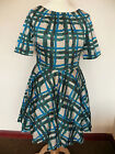 Boden Amy dress Green or Navy painted check 50's style *Party* *2 left* 14P  16R