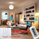 UK/EU 1/2/3 Gang Luxury Crystal Glass Remote Control Touch Switch LED Panel