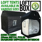 GROW TENT ATTIC LOFT TENT ALL SIZES 25mm METAL POLES HIGH QUALITY HYDROPONICS