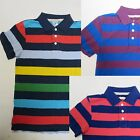 Boys top MINI BODEN polo t-shirt striped age 7 8 9 10 years  NEW