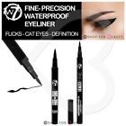 W7 Fine or Thick Felt Tip Eyeliner Pens Black Waterproof Cat Eye Liner Flick