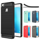 For Huawei P8 P9 P10 Lite 2017 Brushed Rugged Armor Hybrid Soft TPU Cover Case