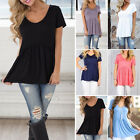 NEW Womens Blouse Plain color Long Sleeve Ladies Top T Shirt Loose Casual Tops