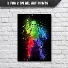 Stormtrooper Abstract Poster - Wall Art Prints - A3 A4 Print - Star Wars Posters