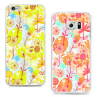 Fashion Flower Graffiti Phone Back Case Cover for iPhone 6 Samsung S6 Tasteful