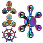 3D Fidget Hand Finger Spinner Metal Toys  Anti-Stress Focus Toys Rainbow Style