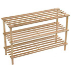 3 4 Tier Wooden Shoe Rack Shelf Organiser Small Storage Upright Stackable Stand