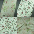 100% Cotton Fabric Linen Floral Rose Medium Weight Extra Wide
