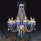New Modern Blue Crystal Chandeliers LED Pendant Lamp Living room Stairs Lighting