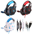 G2100 3.5mm Led Gaming Headphone Headset Adjustable Mic Stereo Surround Sound