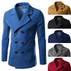 Simple Style Men's Woolen Jacket Outwear Top Fashion Winter Outdoor Trench Coats