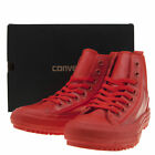 CONVERSE WOMENS RED CHELSEA RUBBER HI TOPS BOOTS TRAINERS