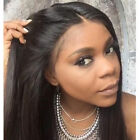 100% Brazilian Human Hair Front Lace Wigs Silky Straight Glueless Full Wig