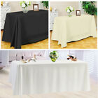 Square Rectangle Tablecloth Polyester Table Cover Cloth Banquet Wedding Party