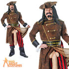 Adult Pirate Captain John Longfellow Funny Stag Costume Fancy Dress Outfit New