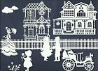 LOTS 6-28 PCS. SUB-SETS VINTAGE SCENE DIE CUTS* *READ* HOME FENCE HOUSE BOY GIRL