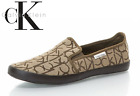 CALVIN KLEIN JEANS MENS CLASSIC SLIP ON CASUAL SHOES TRAINERS WITH PATTERN LOGOS