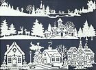 LOTS 6-18 PCS SUB-SETS CHRISTMAS VILLAGE DIE CUTS* *READ* HOUSE SKATE TREES TOWN