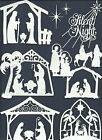 LTS 6-24 PC SUB-SETS NATIVITY DIE CUTS* *READ* SILENT NIGHT CHRISTMAS STABL HALO