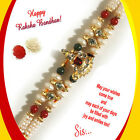 Designer Fancy Rakhi Raksha Bandhan Tikka Shipping Worldwide India, Europe, USA
