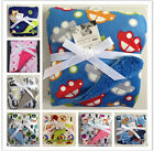 Bassinet Soft Warm Fleece Newborn Baby Blankets Cartoon Design Sleeping Swaddles