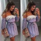 New Women Summer Lace Dress Casual Sleeveless Evening Party Short Mini Dress