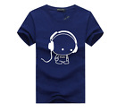 Fashion Men's Round Neck T-shirt Slim Fit Short Sleeve Solid Color Casual Tops