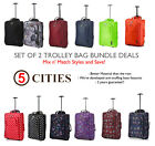 Set da 2 / Singolo Easyjet Ryanair Carry On Trolley Bagaglio a Mano Valigia