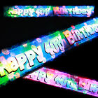 Flashing LED happy 40th birthday banner party decorations sign light up banner