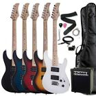 "RAPTOR 39"" FULL SIZE ELECTRIC GUITAR WITH AMP, GIG BAG, TUNER, CABLE 5 COLORS"