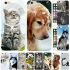 Funny Animals Husky Dog Cute Cat Print Phone Case Cover For IPhone 8 X 6s 7Plus