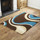 WAVE CURL RUNNER RUG MAT CHEAP COST QUALITY BROWN TEAL X LARGE SMALL MODERN RUG