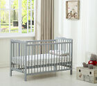 MCC®  Grey Brooklyn Baby Cot Crib With Water repellent Mattress