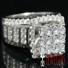 Ladies New 925 Sterling Silver Engagement Anniversary Ring Band White Gold Tone