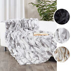 Real Rabbit Fur Blanket Fur Carpet 62''X55'' Chic Elegant Rug Bed Cushion Covers
