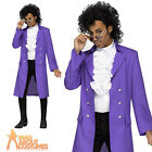 Prince Purple Rain Fancy Dress Costume Mens 1980s Music Celebrity Outfit