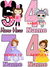 BIRTHDAY IRON ON TRANSFER, ANY AGE PERSONALISED FREE - Ref BDYGL 01 - 00