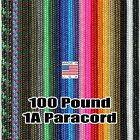 100 Pound Small Paracord Parachute Cord Nylon US Made MIL-C-5040 Type 1A